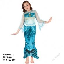 Dětský karnevalový kostým MOŘSKÁ VÍLA PLOUTVIČKA 110 - 120 cm (4 - 6 let)